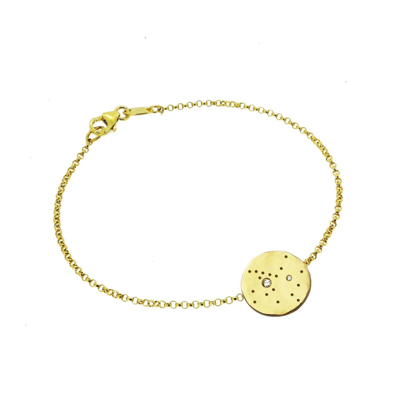 Yvonne Henderson Jewellery - Sagittarius Constellation Bracelet with White Sapphires Gold