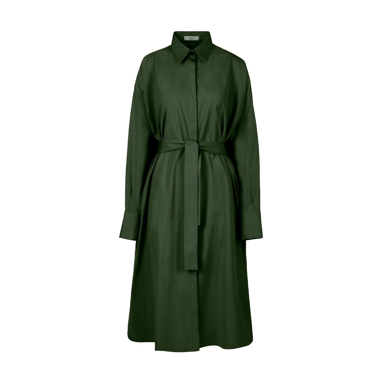 A-line Clothing - Green Oversized Shirt Dress