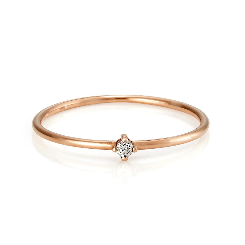 Serafin Jewellery - Tiny Diamond & Rose Gold Celeste Ring