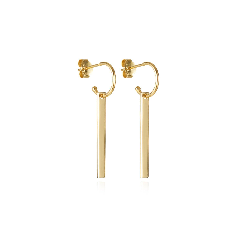 Buff Jewellery - Gold The Line Two Way Hoop Earrings