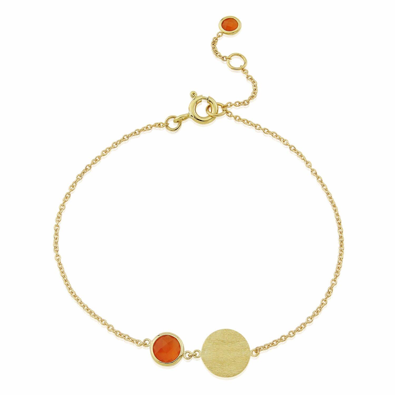 Auree Jewellery - Bali 9Ct Gold July Birthstone Bracelet Carnelian