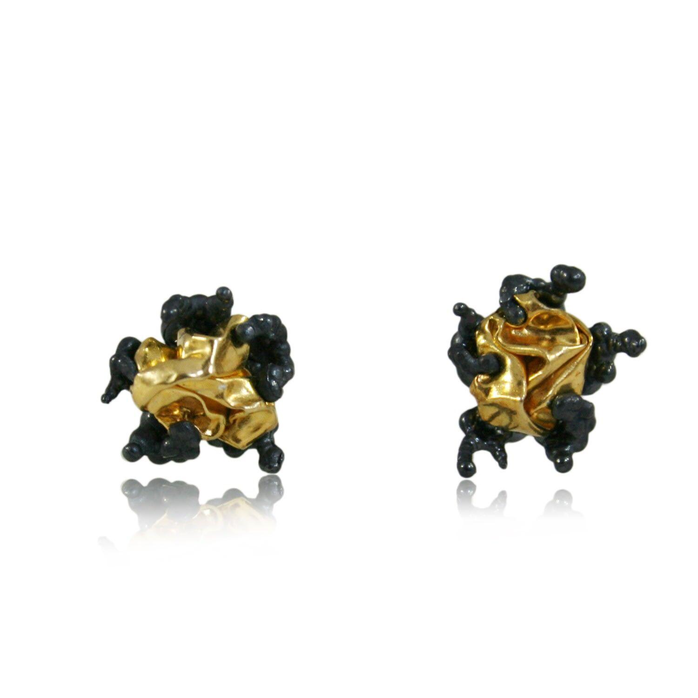Karolina Bik Jewellery - Naphta Earrings Black & Gold