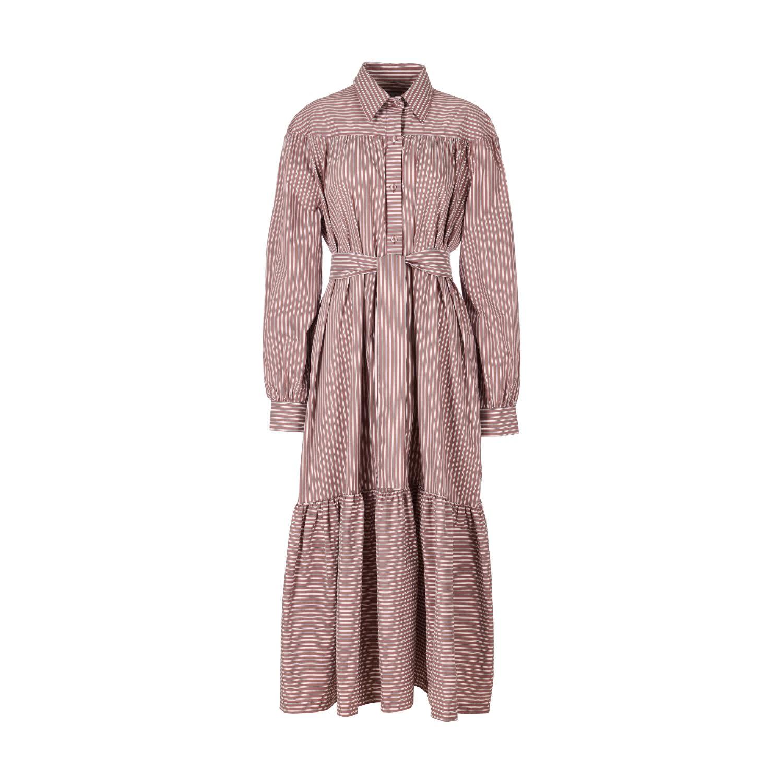 A-line Clothing - Striped Maxi Dress
