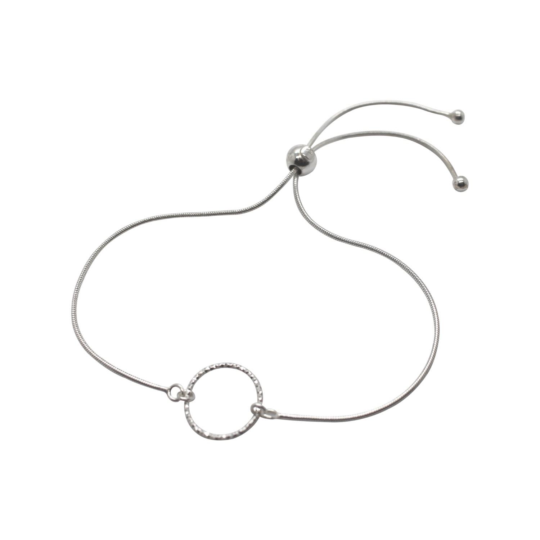 Lucy Ashton Jewellery - Circle Adjustable Bracelet Sterling Silver