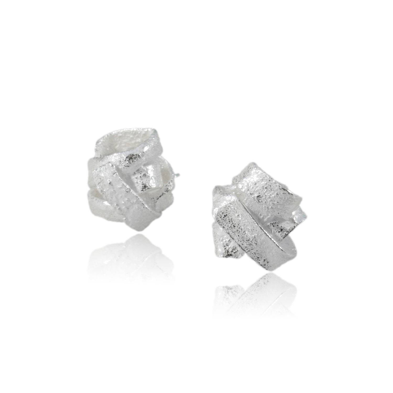 Karolina Bik Jewellery - Algae Earrings Silver