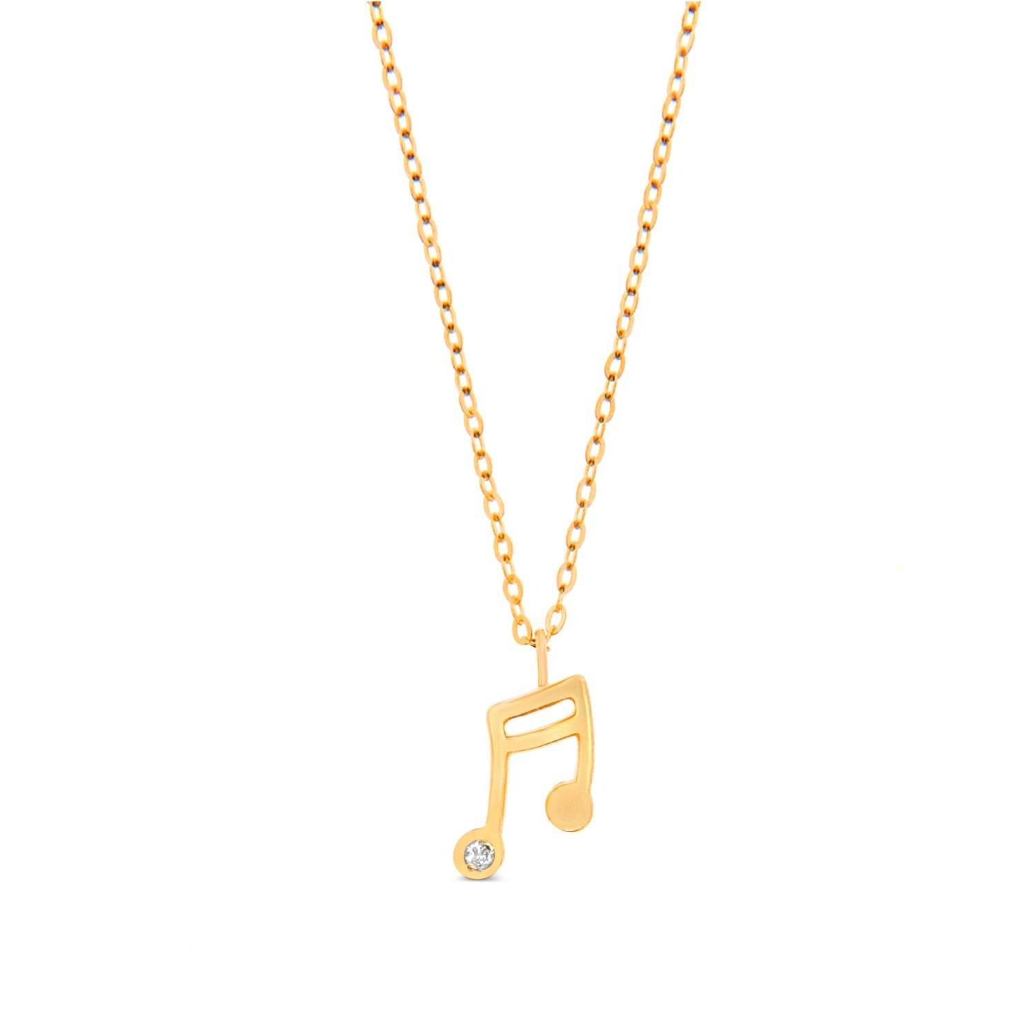 Cosanuova - Music Note In 14k Yellow Gold