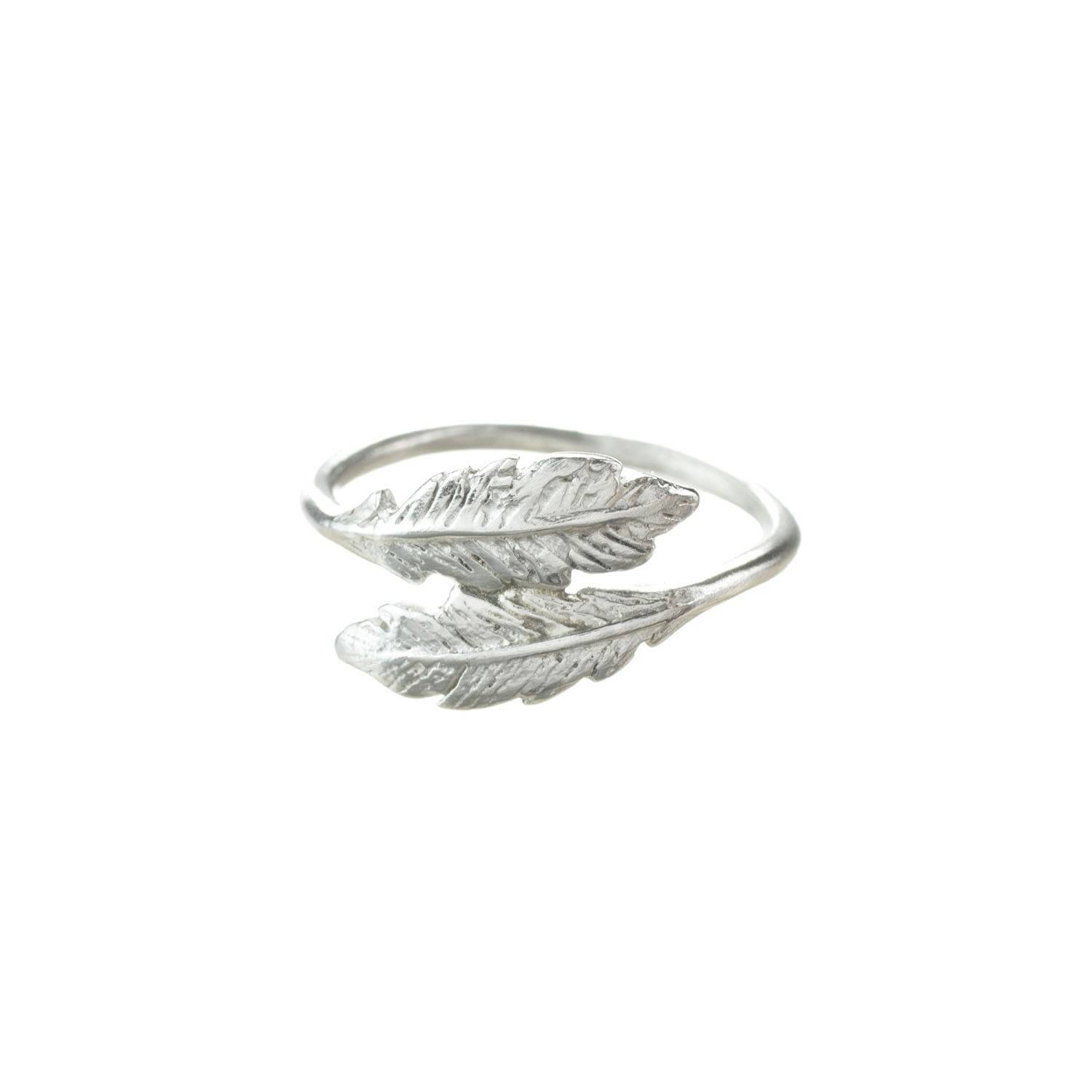Lucy Flint Jewellery - Feather Ring Sterling Silver