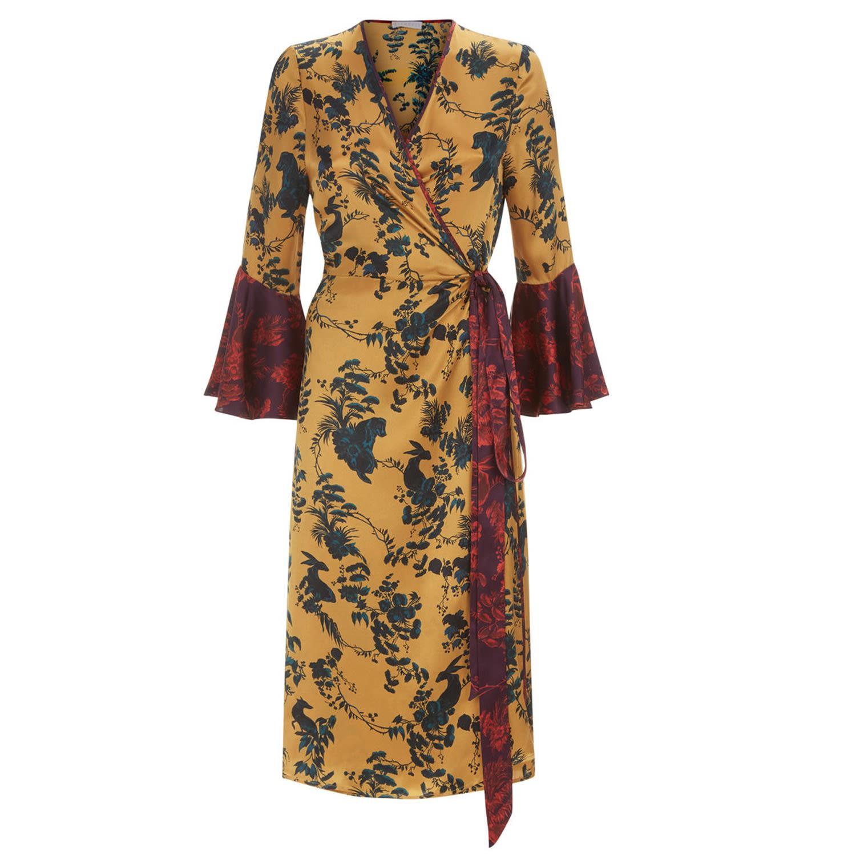 Klements - Netil Wrap Dress In Garden Puppets Print