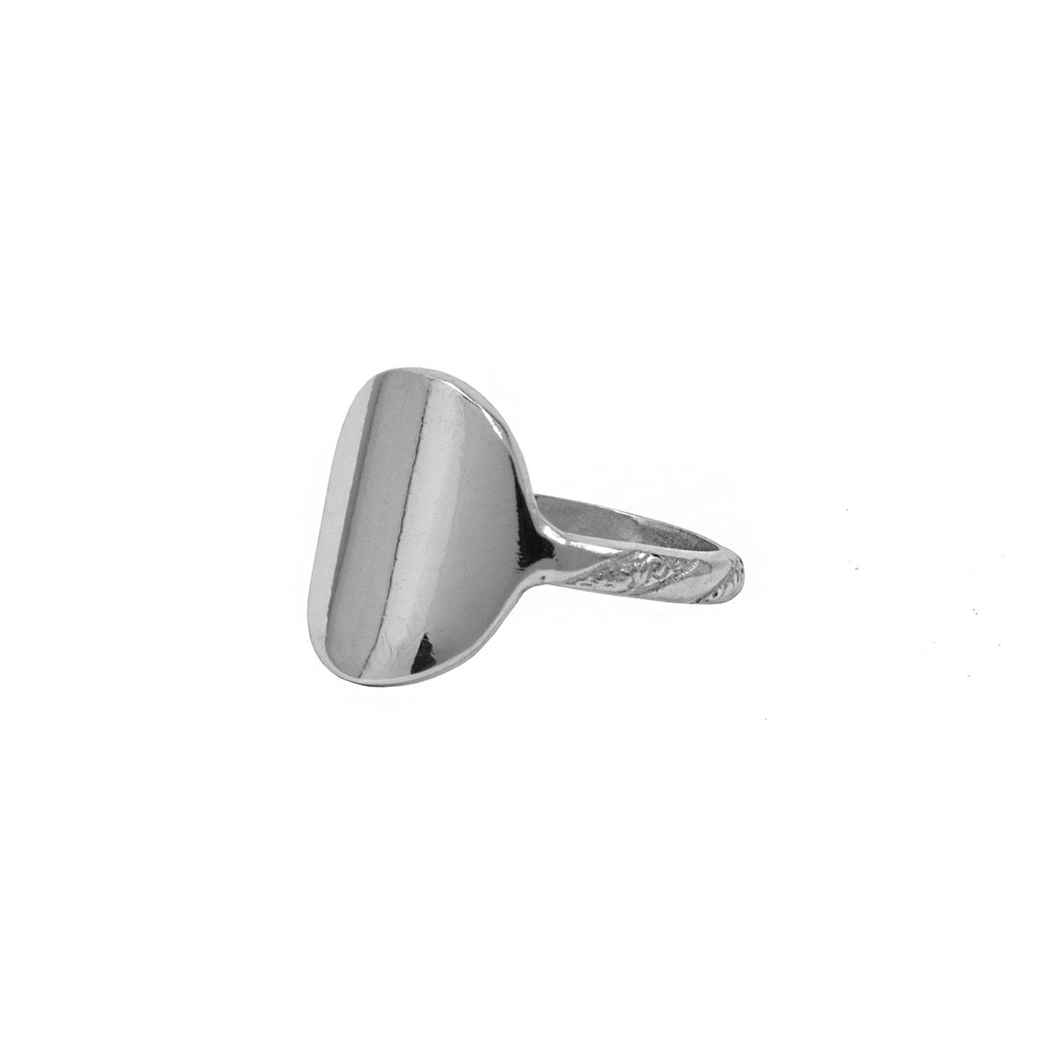 Annabelle Lucilla Jewellery - Full Moon Signet Ring Silver