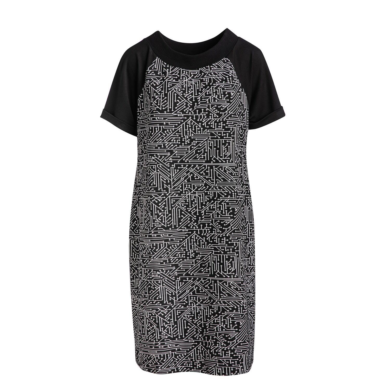 Conquista - Black & White A Line Dress Conquista Fashion