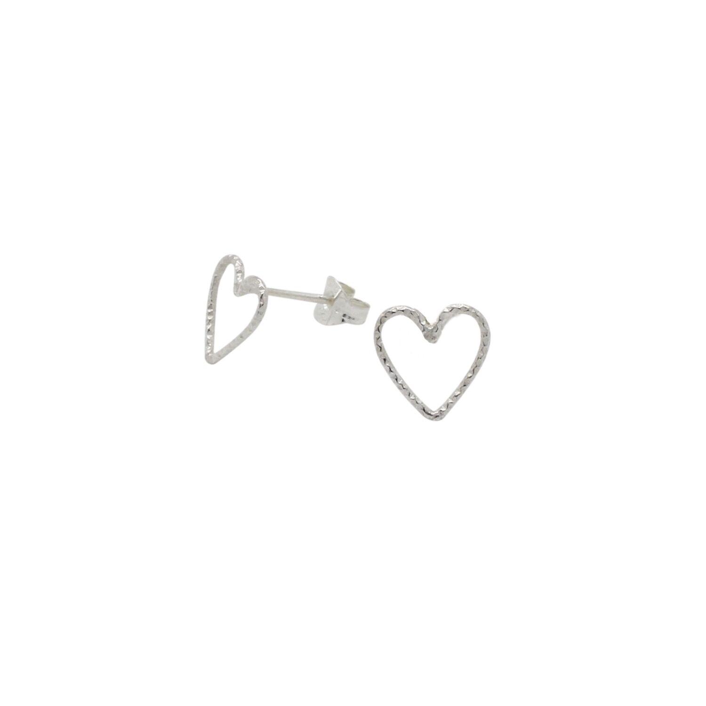 Lucy Ashton Jewellery - Heart Stud Earrings Sterling Silver