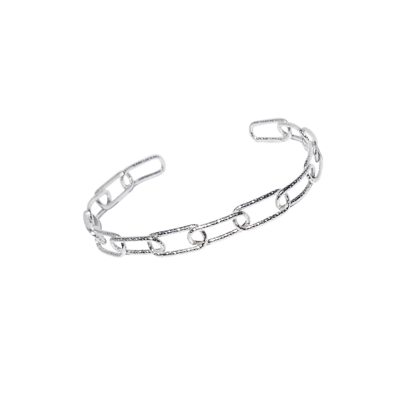 Lucy Ashton Jewellery - Link Chain Cuff Bracelet Sterling Silver
