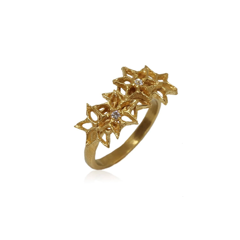 Karolina Bik Jewellery - Star Flower Ring Gold