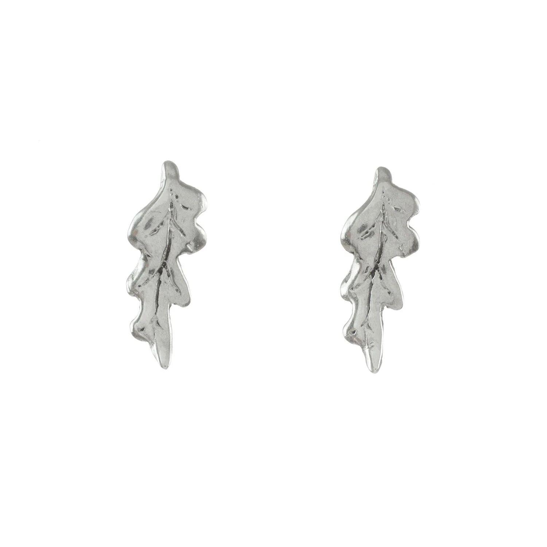 Lucy Flint Jewellery - Oak Leaf Stud Earrings Sterling Silver