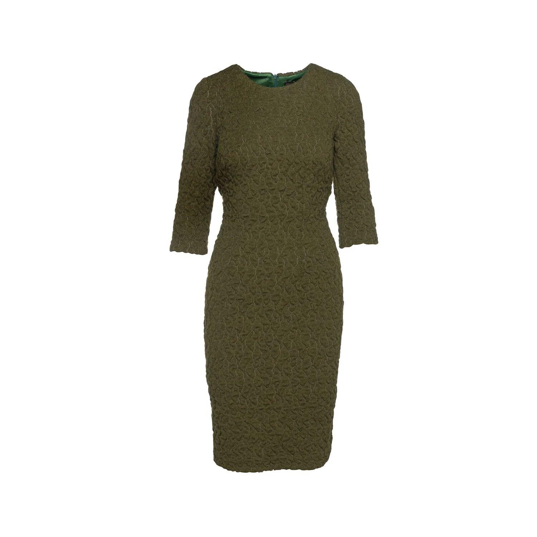Conquista - Khaki Jacquard Dress By Conquista Fashion