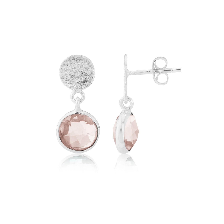 Auree Jewellery - Salina Silver & Rose Quartz Earrings