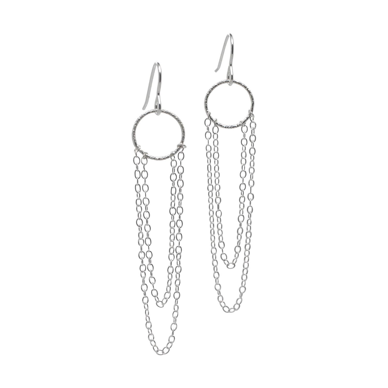 Lucy Ashton Jewellery - Chain Drop Earrings Sterling Silver