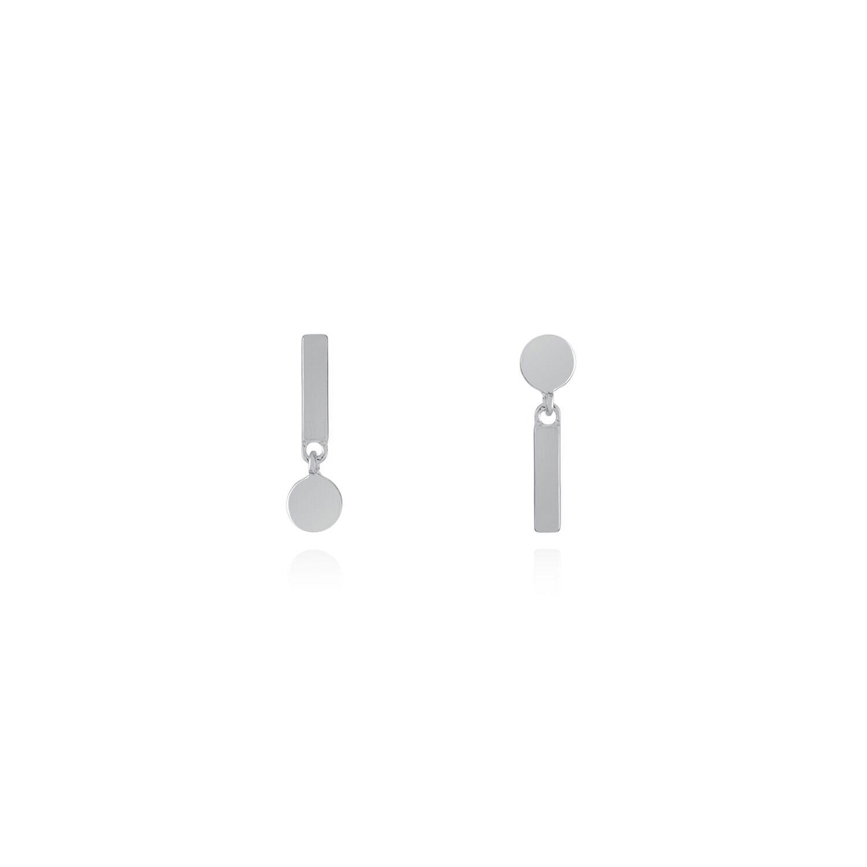 Buff Jewellery - Silver Flip Reverse Earrings