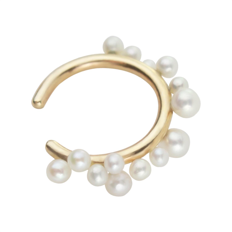 Irena Chmura Jewellery - Uva Di Perle Ear Cuff In 9K Gold