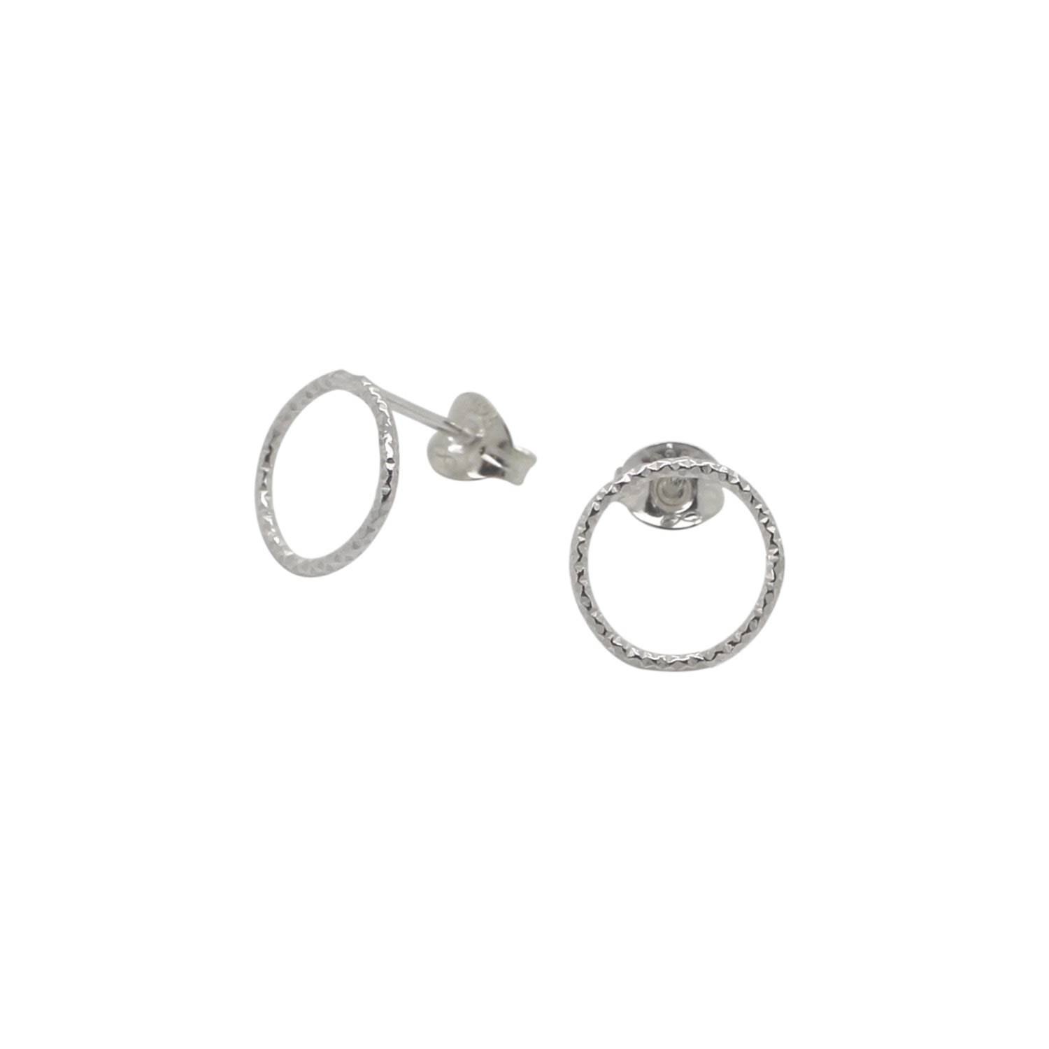 Lucy Ashton Jewellery - Circle Stud Earrings Sterling Silver