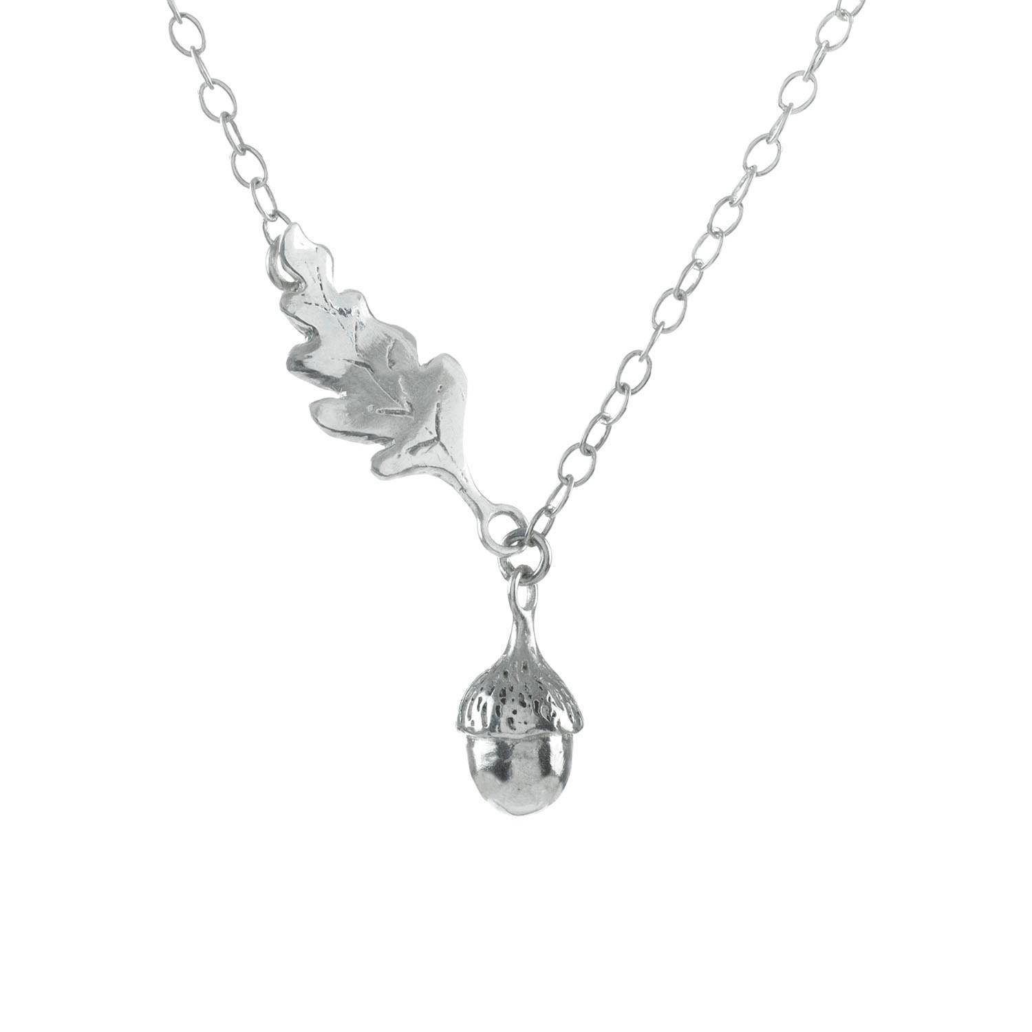 Lucy Flint Jewellery - Tiny Acorn Necklace Sterling Silver