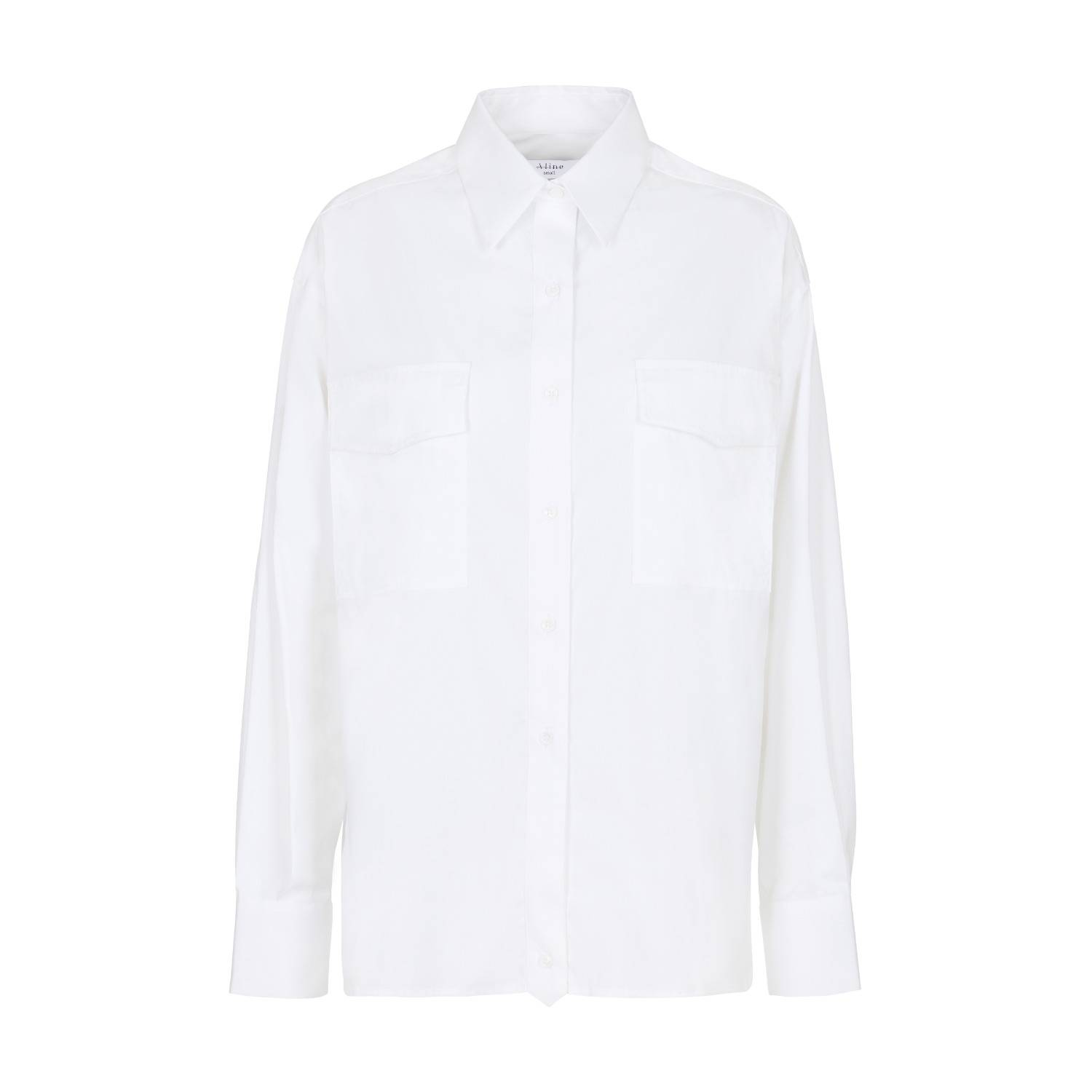 A-line Clothing - White Patch Chest Pocket Shirt