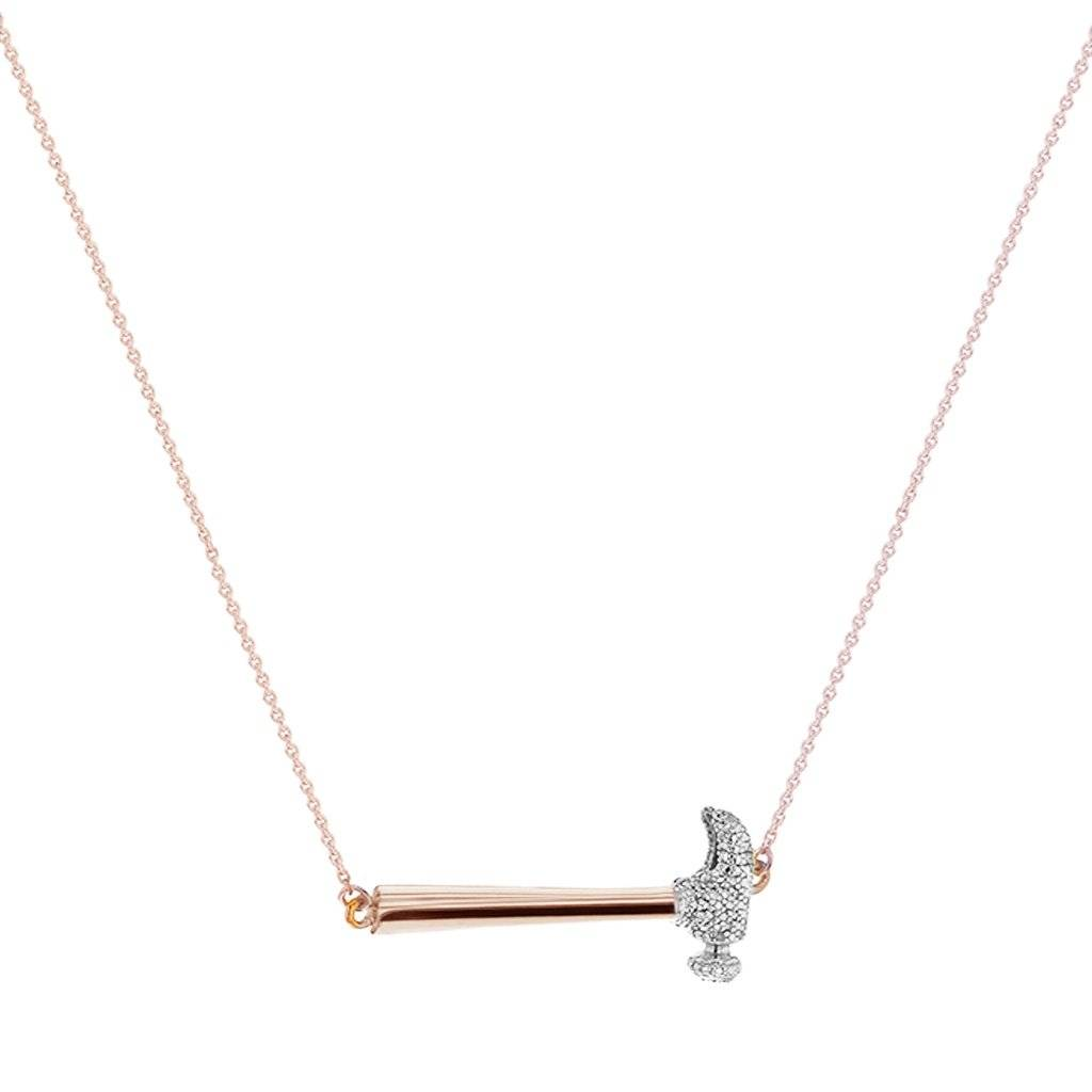 FQ Collection - Rose Gold Hammer Home Your Message Necklace
