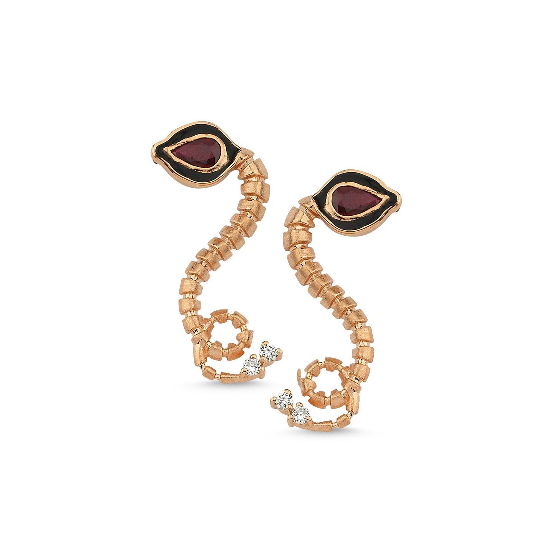 Selda Jewellery - Baby Dragon Ruby Earrings