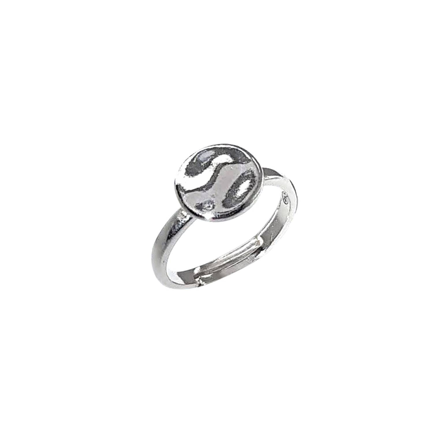 Lucy Ashton Jewellery - Hammered Disc Ring Sterling Silver