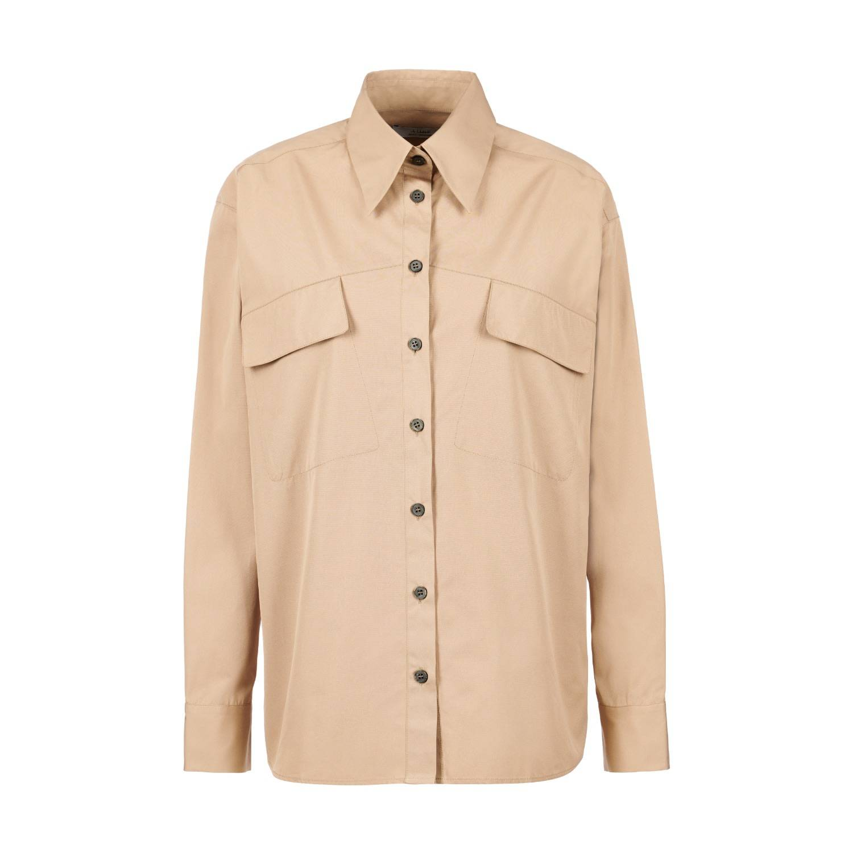 A-line Clothing - Asymmetrical Chest Pocket Shirt