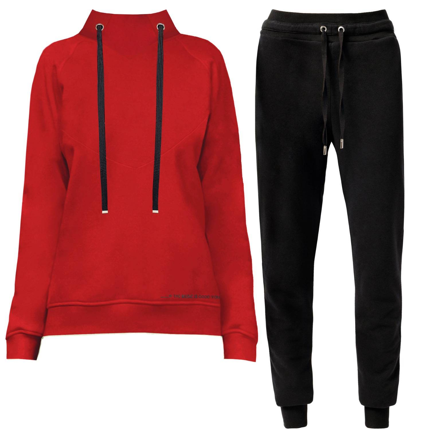 Angelika Jozefczyk - Cosy Home Tracksuit Red & Black