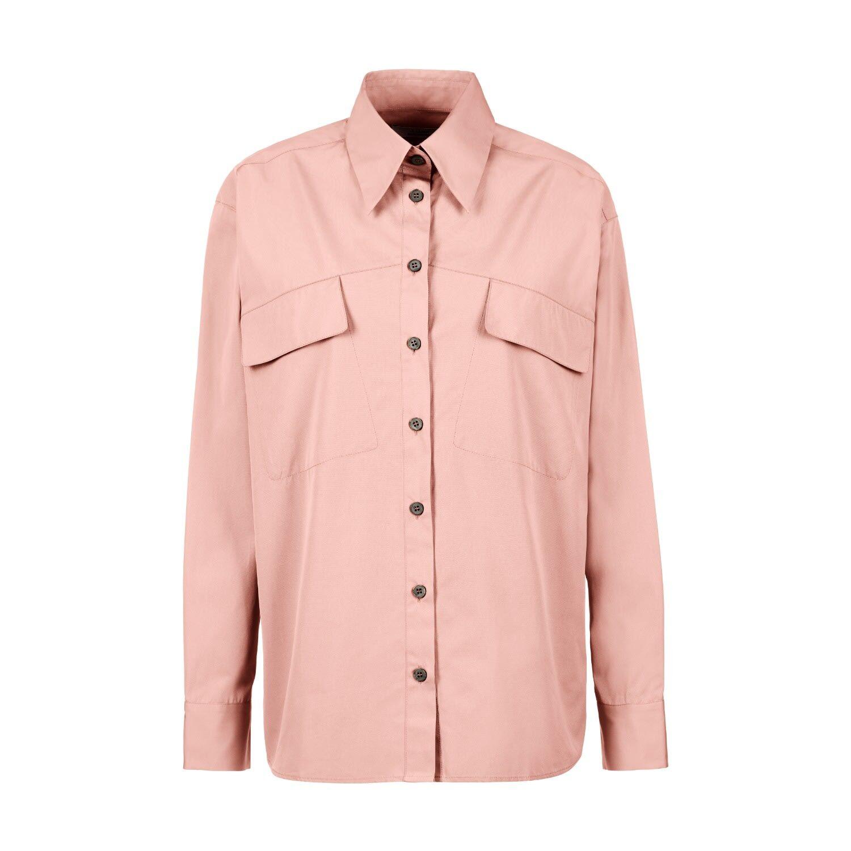A-line Clothing - Rose Asymmetrical Chest Pocket Shirt