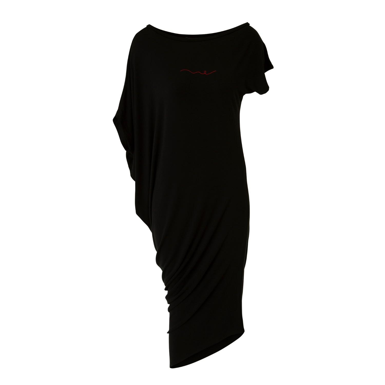 Kokoro Organics - Bamboo Sport Off The Shoulder Dress Black
