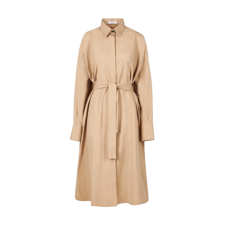 A-line Clothing - Bege Oversized Shirt Dress