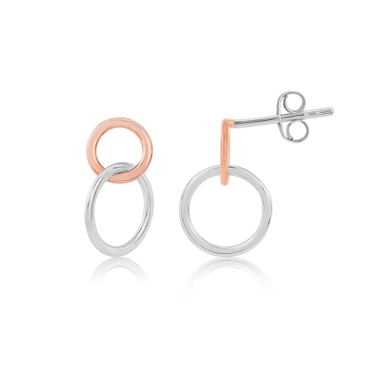 Auree Jewellery - Kelso Sterling Silver & Rose Gold Earrings