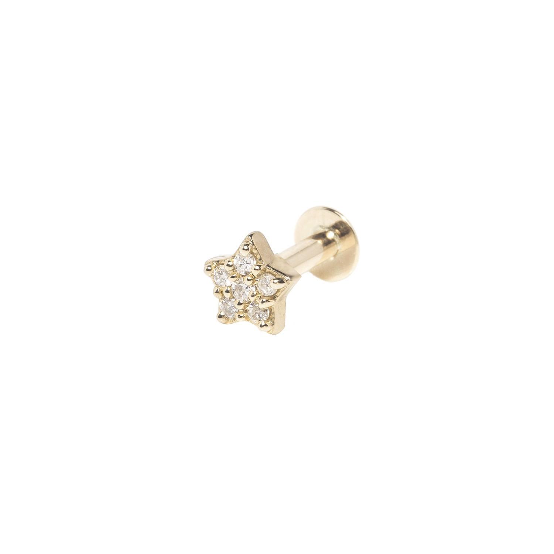 Zohreh V. Jewellery - Diamond Star Flat Back Earring 9K Gold