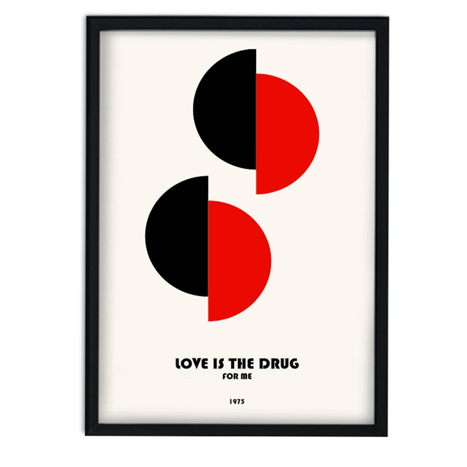 Fanclub - Love Is The Drug For Me Roxie Music Inspired Retro A3 Art Print