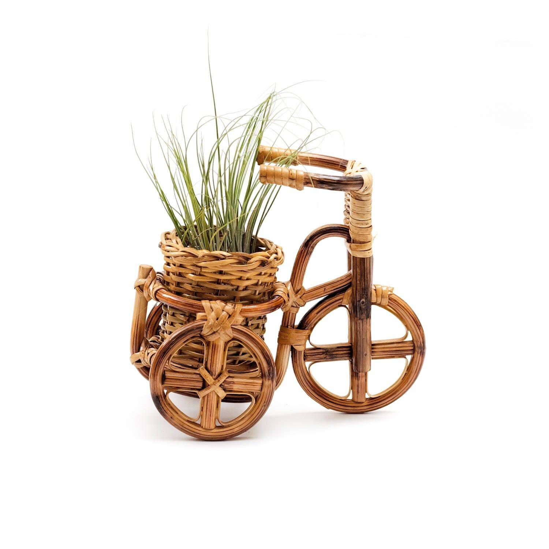 LIKH - Rattan Bike Planter Medium