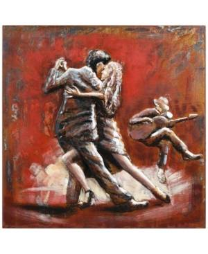 "Empire Art Direct Dance Mixed Media Iron Hand Painted Dimensional Wall Art, 40"" x 40"" x 2.4""  - Multi"