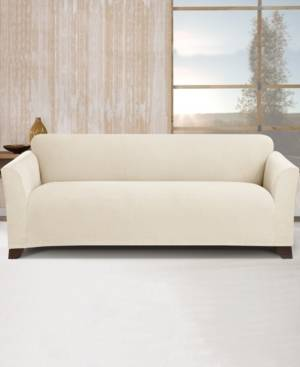 Sure Fit Stretch Morgan 1-Pc. Sofa Slipcover  - Ivory