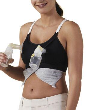 Bravado Designs Clip and Pump Hands-Free Nursing Bra Accessory  - Black