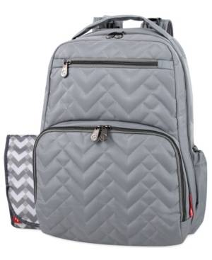 Fisher Price Quilted Morgan Backpack  - Dark Gray