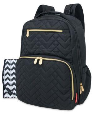 Fisher Price Signature Quilt Diaper Backpack  - Black