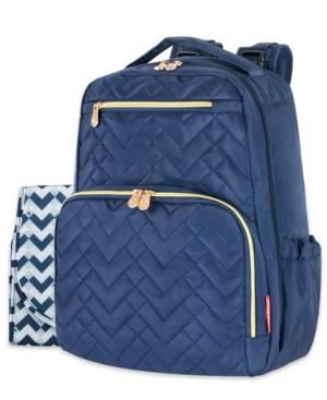 Fisher Price Signature Quilt Diaper Backpack  - Navy