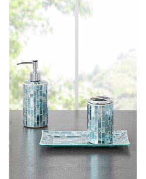 Jla Home Decor Studio Robin Mosaic 3pc Bath Accessory Set Bedding  - Silver