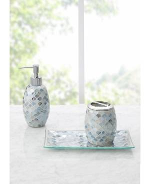 Jla Home Decor Studio Lily Mosaic 3pc Bath Accessory Set Bedding  - Silver