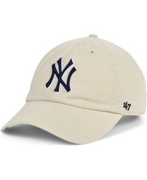 '47 Brand New York Yankees Bone Clean Up Cap  - Natural