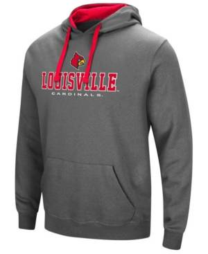 Colosseum Men's Louisville Cardinals 3 Stack Logo Hoodie  - Charcoal/Red