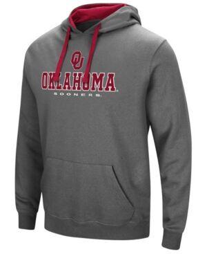 Colosseum Men's Oklahoma Sooners 3 Stack Logo Hoodie  - Charcoal
