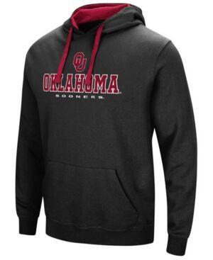 Colosseum Men's Oklahoma Sooners 3 Stack Logo Hoodie  - Black